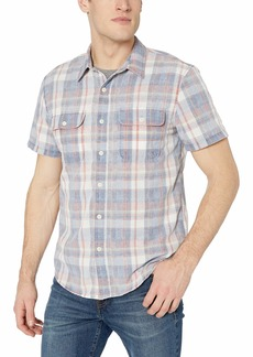 Lucky Brand Men's Short Sleeve Clean 2 Pocket Workwear Shirt  S