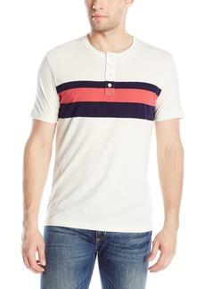 Lucky Brand Men's Short-Sleeve Henley Shirt with Center Stripe