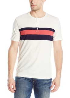 Lucky Brand Men's Short-Sleeve Henley Shirt with Center Stripe