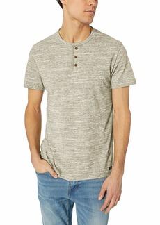 Lucky Brand Men's Short Sleeve Henley-Space DYE Shirt Olive XL