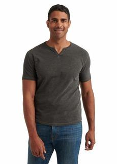Lucky Brand Men's Short Sleeve Notch Neck Slub Tee Shirt  L