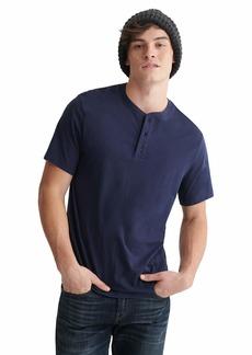 Lucky Brand Men's Short Sleeve Pima Henley Shirt  L