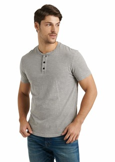 Lucky Brand Men's Short Sleeve Slub Henley T Shirt  XL