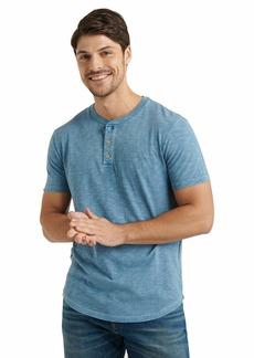 Lucky Brand Men's Short Sleeve Slub Henley T Shirt  XL