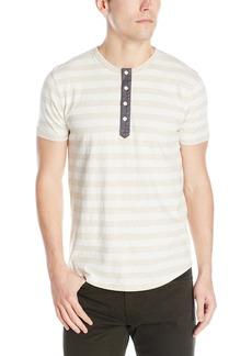 Lucky Brand Men's Short-Sleeve Striped Henley Shirt  X-Large