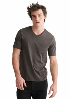 Lucky Brand Men's Short Sleeve V-Neck Pima Tee  M