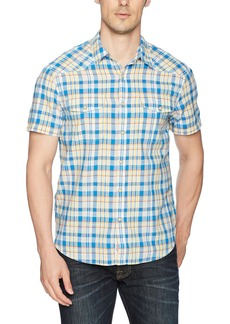 Lucky Brand Men's Short Sleeve Woven Western Shirt