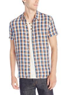 Lucky Brand Men's Short-Sleeved One Pocket Flap Shirt in Gingham