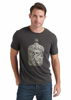 Lucky Brand Men's Skull Drink Tee