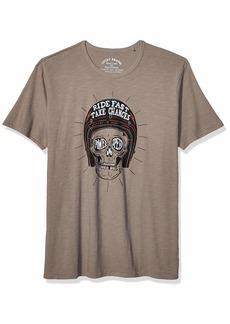 Lucky Brand Men's Skull Helmet Tee  XL