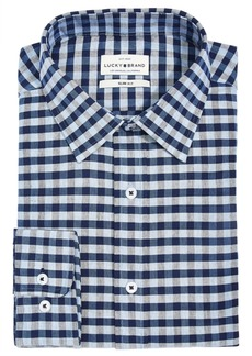 Lucky Brand Men's Slim-Fit Moisture-Wicking Check Dress Shirt