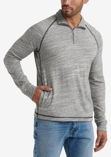 Lucky Brand Mens Slub Jersey Mock Neck Sweatshirt with Side Pockets