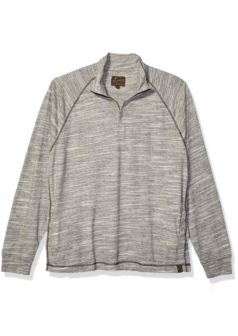 Lucky Brand Men's Slub Jersey Mock Neck Sweatshirt  XL