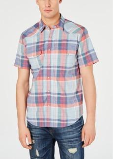 Lucky Brand Men's Snap-Front Plaid Shirt