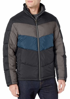 Lucky Brand Men's Southold Zip Front Quilted Ski Jacket