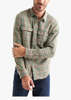 Lucky Brand Men's Stretch Plaid Dual Pocket Shirt