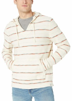 Lucky Brand Men's Striped Baja Hooded Pullover Sweatshirt  M