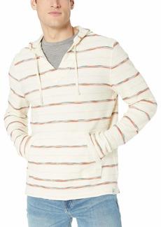 Lucky Brand Men's Striped Baja Hooded Pullover Sweatshirt  XL