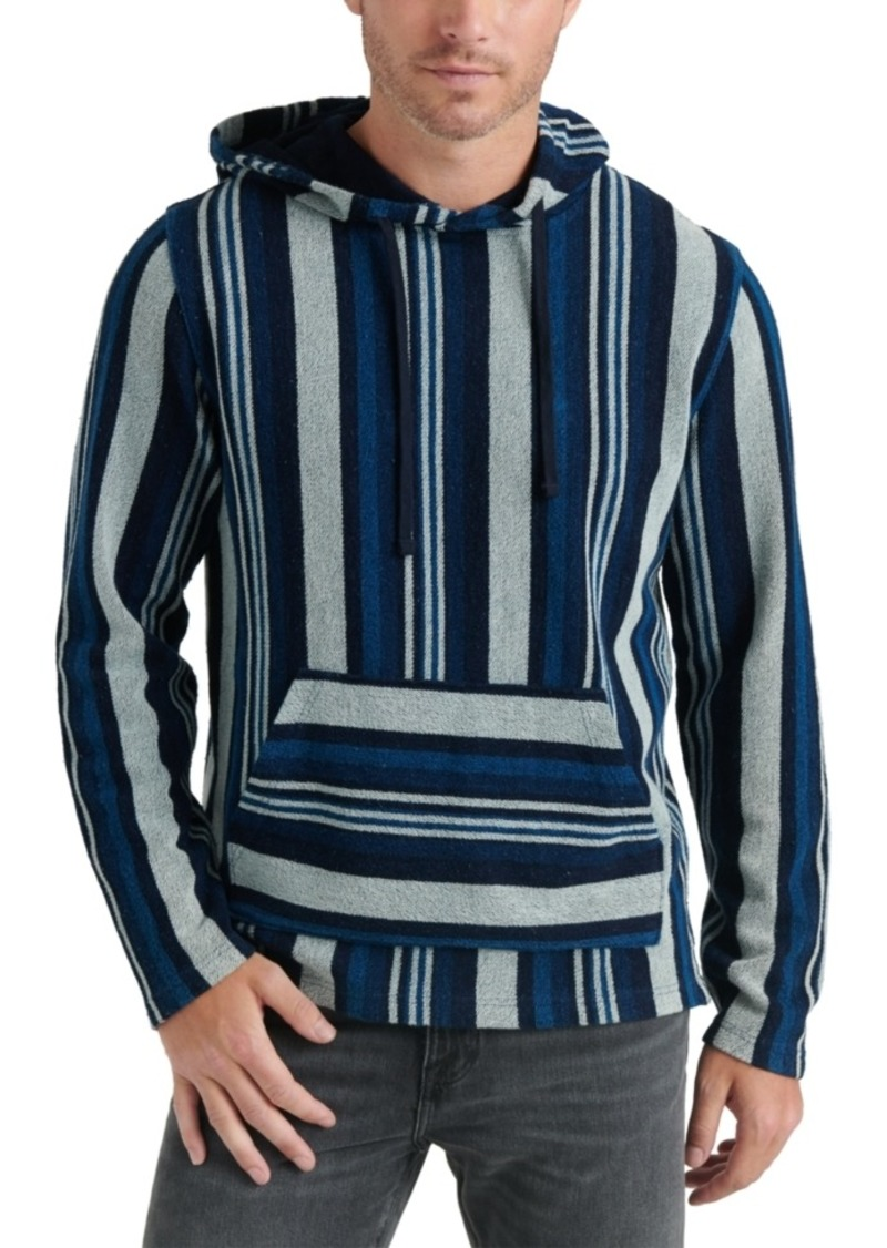 Lucky Brand Men's Striped Baja Pullover