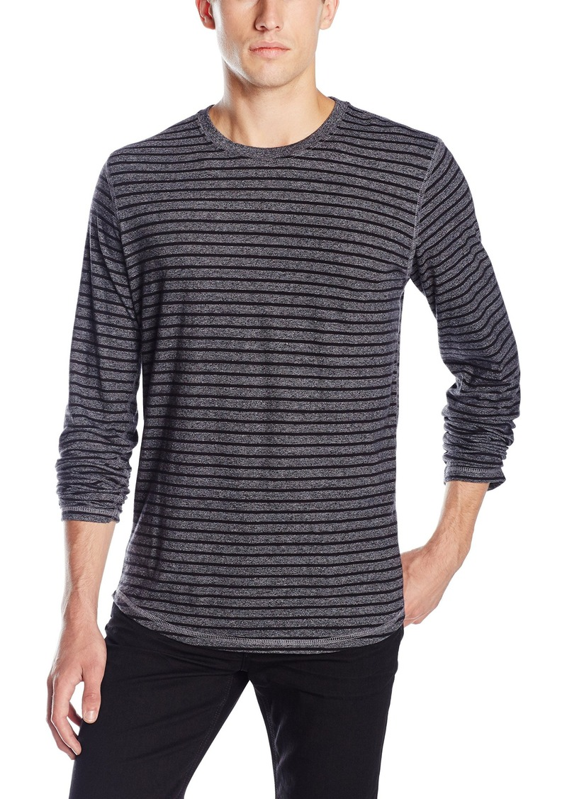 Lucky Brand Men's Striped Moto Crewneck Top