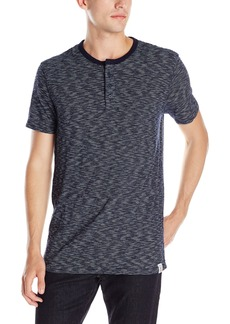 Lucky Brand Men's Striped Short Sleeve Henley  Medium