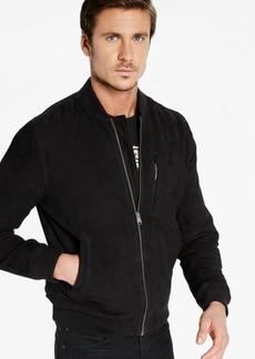 Lucky Brand Men's Suede Bomber Jacket