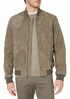 Lucky Brand Men's Suede Bomber Jacket  M