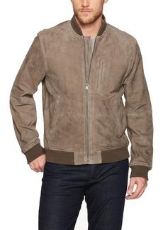 Lucky Brand Men's Suede Bomber Jacket  S