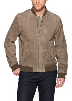 Lucky Brand Men's Suede Bomber Jacket  XL