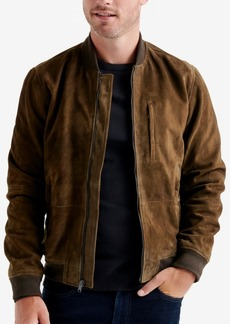 Lucky Brand Men's Suede Leather Bomber Jacket