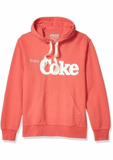Lucky Brand Men's Sueded French Terry Enjoy Coke Hooded Pullover Sweatshirt