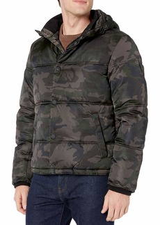Lucky Brand Men's Summit Snap Front Puffer Coat