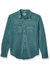 Lucky Brand Men's Tencel Martin Button Up Western Shirt sea Pine XXL