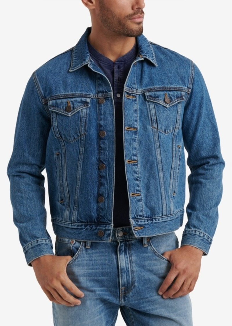 Lucky Brand Men's Tencel Trucker Jacket