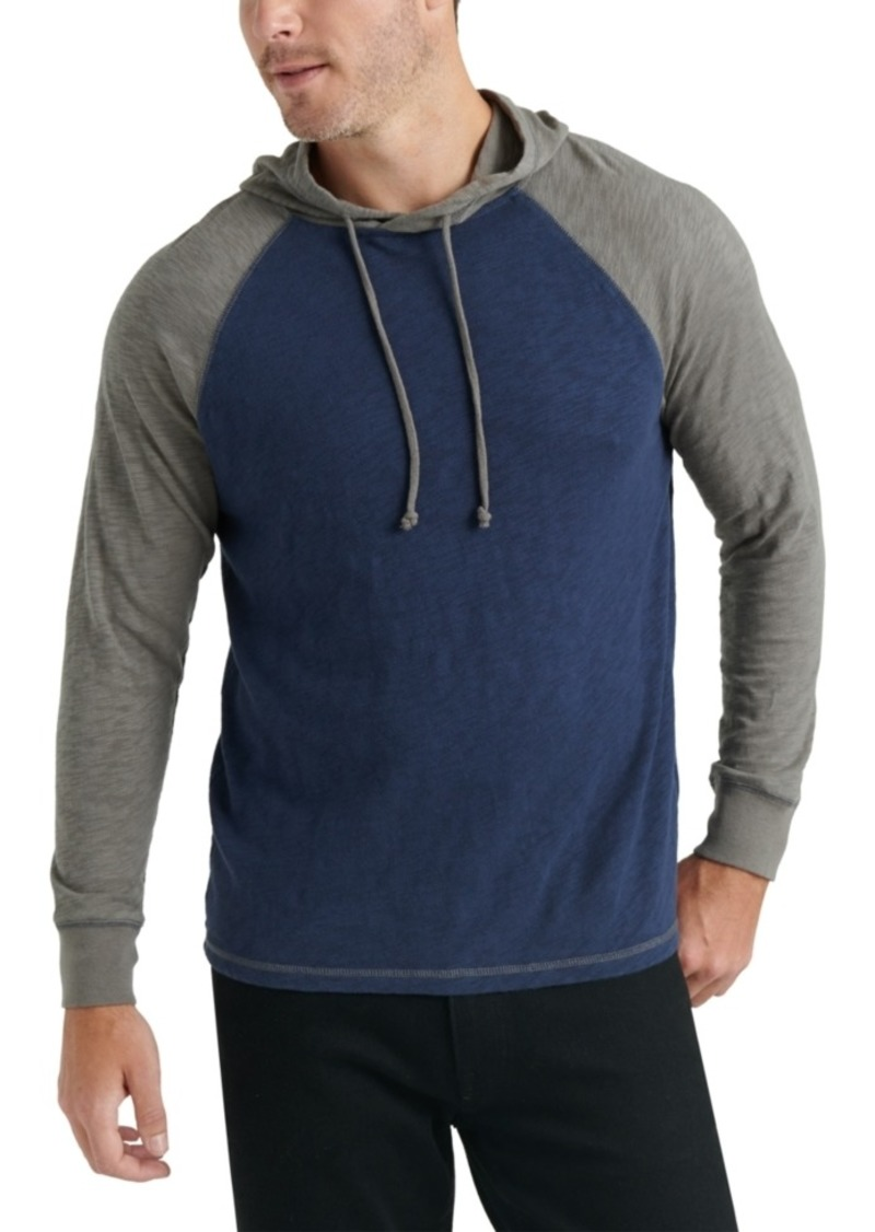 Lucky Brand Men's Textured Colorblocked Hoodie