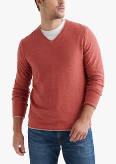 Lucky Brand Men's Textured V-Neck Sweater