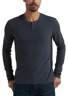 Lucky Brand Men's Thermal Two-Snap Henley