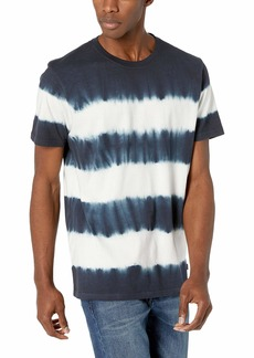 Lucky Brand Men's TIE DYE Stripe Crew Neck TEE  L