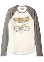Lucky Brand Men's Triumph Badge and Bike Graphic Tee