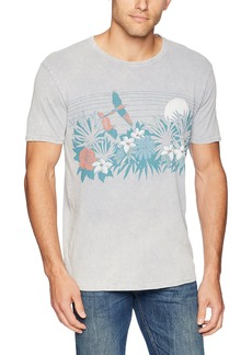 Lucky Brand Men's Tropical Floral Graphic TEE  XXL