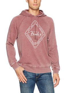 Lucky Brand Men's Venice Burnout Hoodie fire Brick
