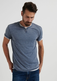 Lucky Brand Men's Venice Burnout Notch T-Shirt