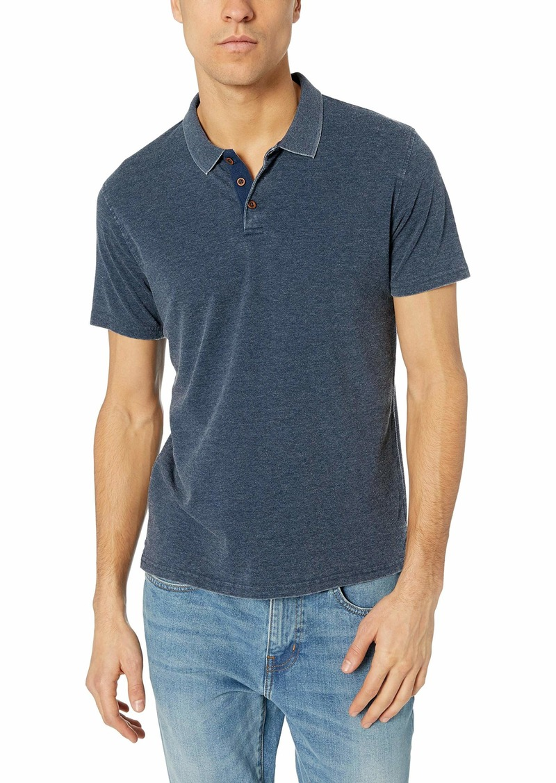Lucky Brand Men's Venice Burnout Pique Polo Shirt  M