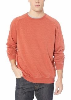 Lucky Brand Men's Venice Burnout Saddle Crew Neck Sweatshirt CINEABAR L