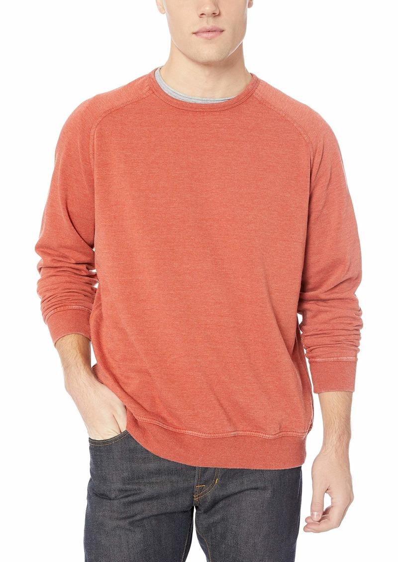 Lucky Brand Men's Venice Burnout Saddle Crew Neck Sweatshirt CINEABAR XXL