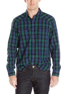 Lucky Brand Men's Verde Santa Fe Western Shirt in Green Multi Black/Blue