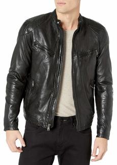 Lucky Brand Men's Vincent Leather Jacket  XXL
