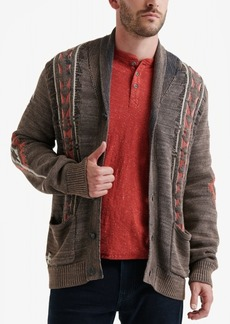 Lucky Brand Men's Washed Navajo Cardigan