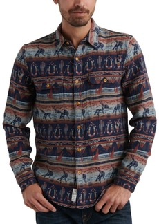 Lucky Brand Men's Western Print Shirt