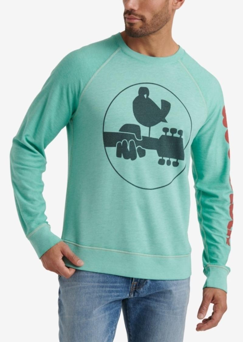 Lucky Brand Mens Woodstock Burnout Crew
